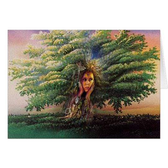 Tree Nymph Greeting / Note Card