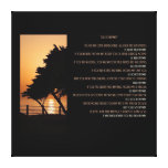 Tree & Ocean Sunset Do It Anyway Canvas Print