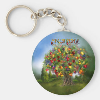 Tree Of Abundance Art Keychain