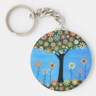 Tree of Beauty Round Key Chain