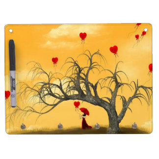 Tree of Broken Hearts Dry Erase Board With Keychain Holder