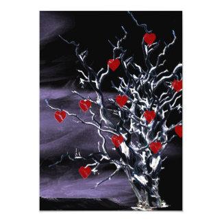Tree of Broken Hearts Gothic invite