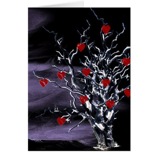 Tree of Broken Hearts Gothic Thank You Card