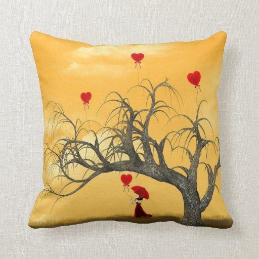 Tree of Broken Hearts Throw Pillow