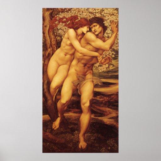 Tree of Forgiveness Burne Jones, Vintage Victorian Poster