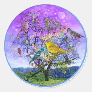 Tree of Happiness Classic Round Sticker