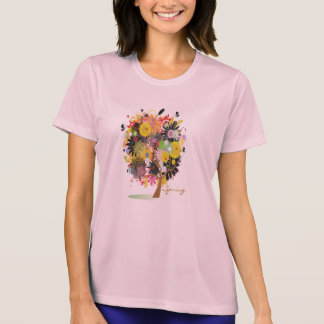 Tree of Happiness Ladies Performance Micro-Fiber T Tee Shirts