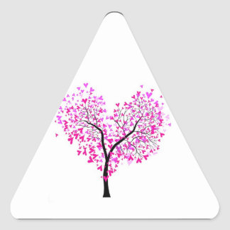 Tree of Hears Triangle Sticker