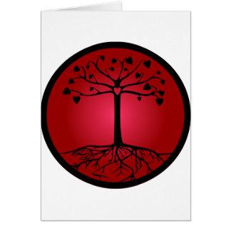 Tree of Hearts Card