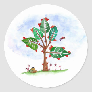 Tree of Hearts Classic Round Sticker