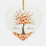 Tree of Hearts - Fall/Winter Wedding Ornament