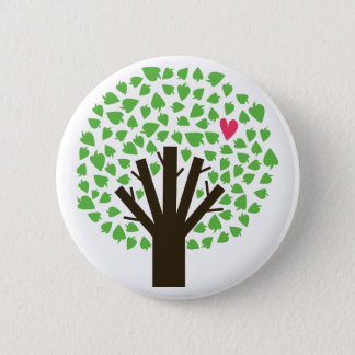 Tree of Hearts Pinback Button