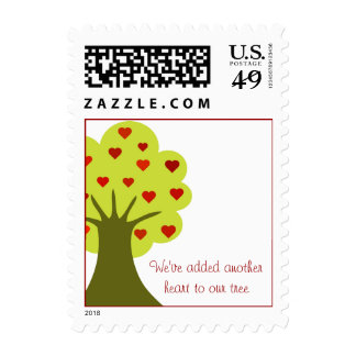 Tree of Hearts Postage Stamp