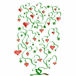 Tree of Hearts with Leaves Photo Cutouts