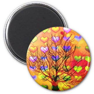 Tree of joy with multiple hearth magnet