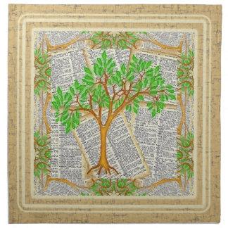 TREE OF KNOWLEDGE NAPKIN