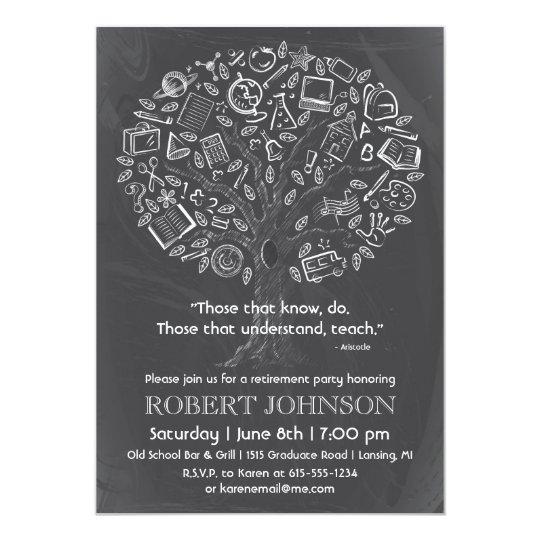 Tree Of Knowledge Teacher Retirement Invitation