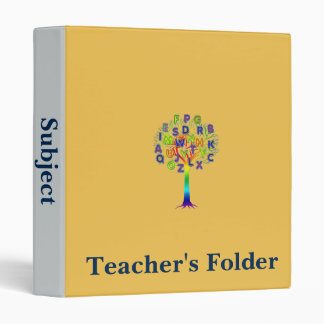 Tree of knowledge teaching folder for subjects binder