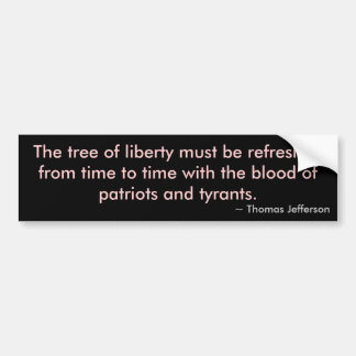 Tree of Liberty Car Bumper Sticker