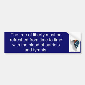 Tree of Liberty (Jefferson) Car Bumper Sticker