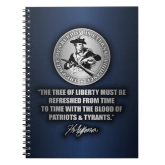 Tree of Liberty Spiral Notebook