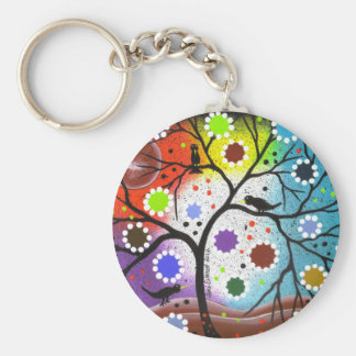 tree of life #22 By Lori Everett Basic Round Button Keychain