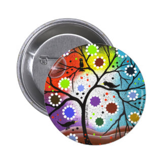 tree of life #22 By Lori Everett Pinback Button