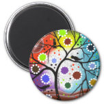 tree of life #22 By Lori Everett 2 Inch Round Magnet