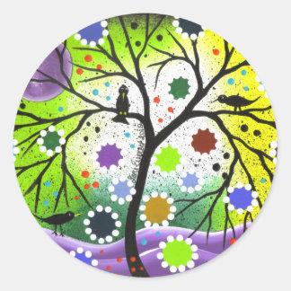 Tree Of Life #33 By Lori Everett Classic Round Sticker