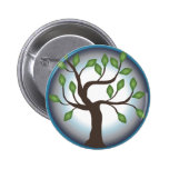 Tree of Life and Moon 2 Inch Round Button