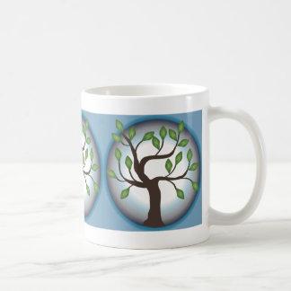 Tree of Life and Moon Classic White Coffee Mug