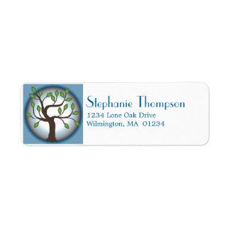 Tree of Life and Moon Custom Return Address Label
