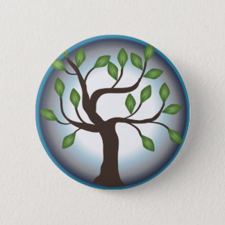 Tree of Life and Moon Pinback Button