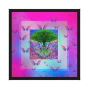 Tree of Life and Rainbow Angel Wings Canvas Print (<em>$137.85</em>)