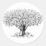 Tree of Life - animals Classic Round Sticker