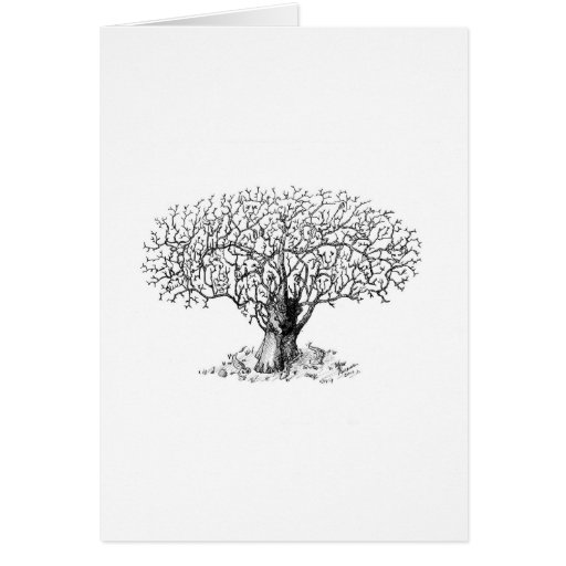 Tree of Life - animals Greeting Card