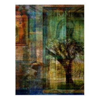 TREE OF LIFE art painting Postcard