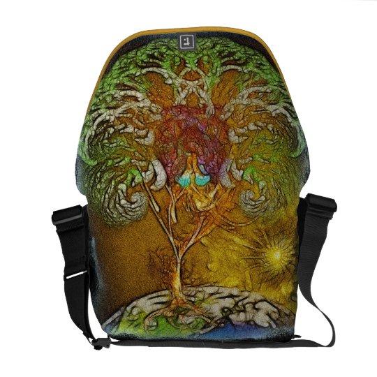Tree Of Life Artwork Medium Courier Bag