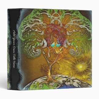 Tree Of Life Artwork Personalized 3 Ring Binders