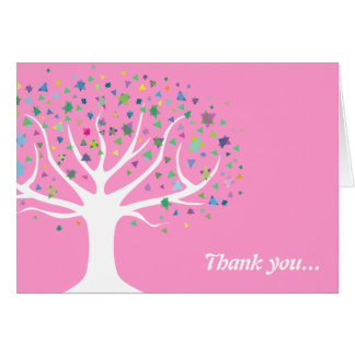 Tree of Life Baby Naming Thank You Card