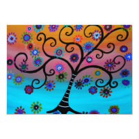 Tree of Life Bar Bat B'nai Mitzvah Invitations