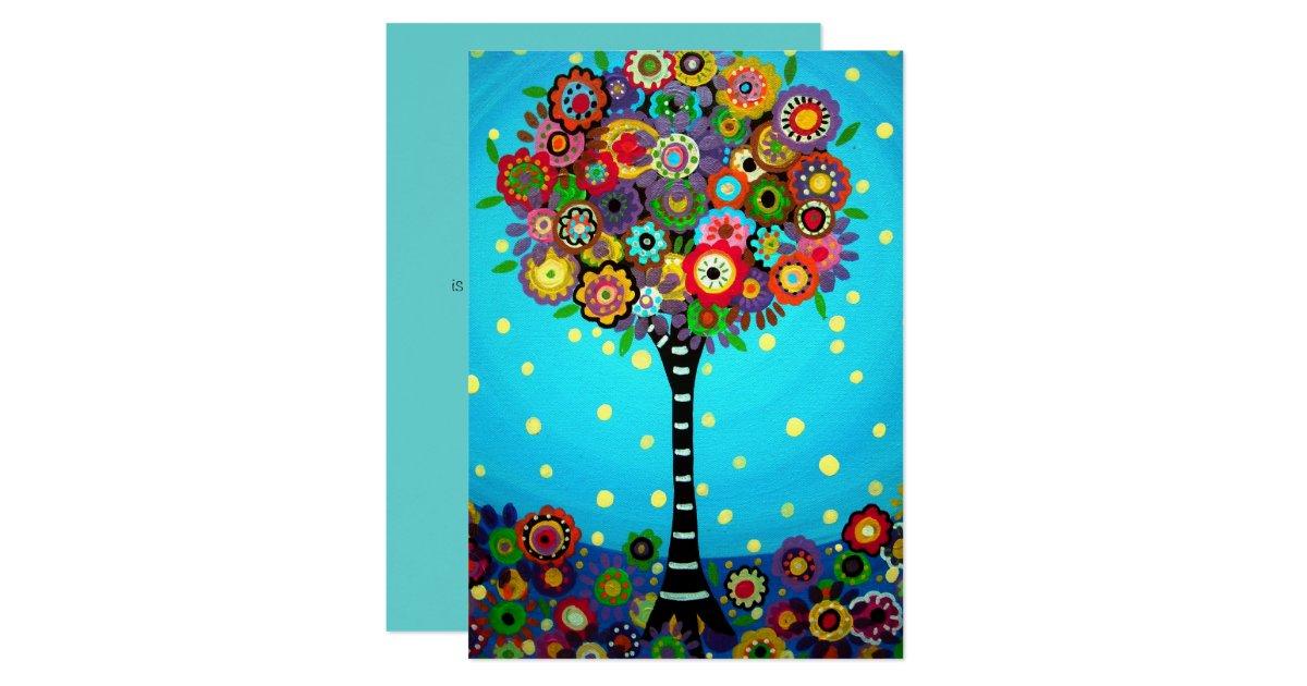 Tree Of Life Bar Bat Mitzvah Card Zazzle