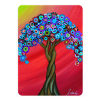 TREE OF LIFE BAR/BAT MITZVAH CARD