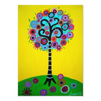 TREE OF LIFE BAR BAT MITZVAH CARD