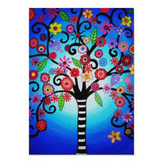 TREE OF LIFE BAR/BAT MITZVAH 5X7 PAPER INVITATION CARD