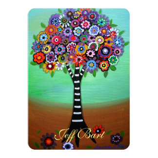Tree of Life Bar Bat Mitzvah Invitations