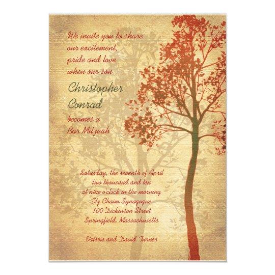 Tree of Life Bar Mitzvah Invitation