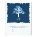 Tree of Life Bar Mitzvah Reply Card, Navy Personalized Invite