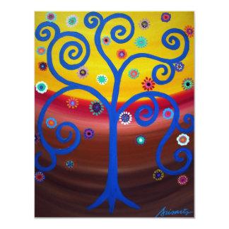 TREE OF LIFE bat mitzvah Invitations