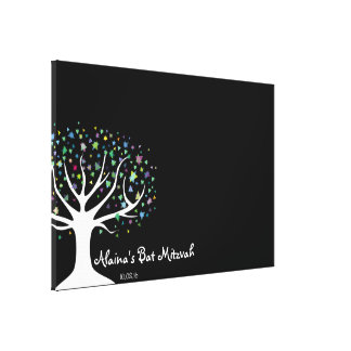 Tree of Life Bat Mitzvah Sign-In Board Canvas Print